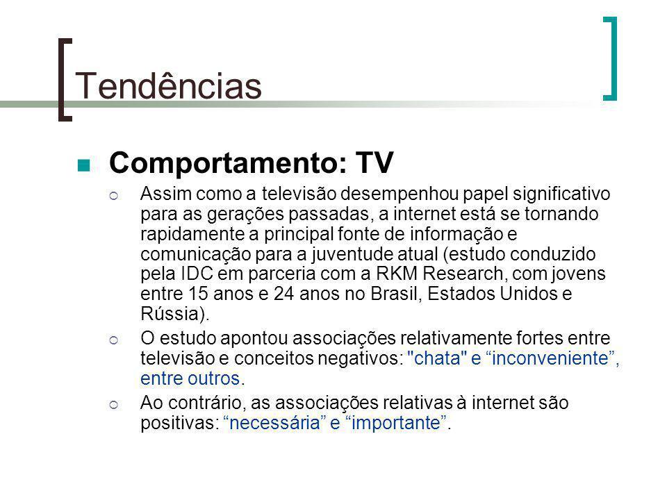 Tendências Comportamento: TV