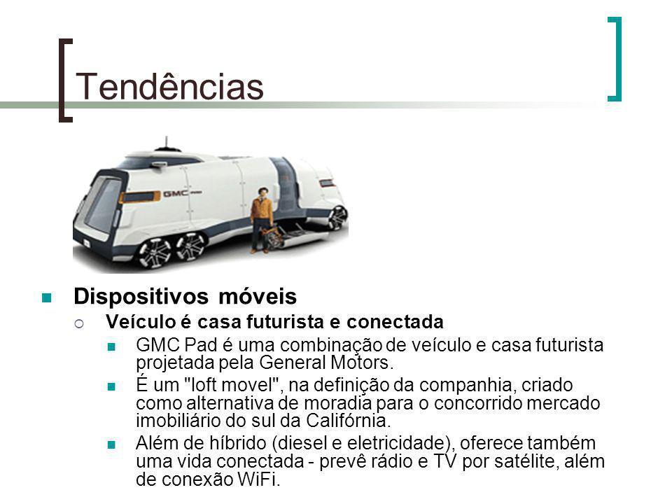 Tendências Dispositivos móveis Veículo é casa futurista e conectada