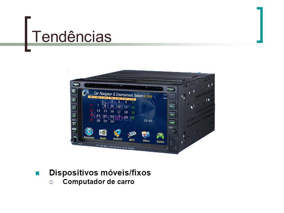 Tendências Dispositivos móveis/fixos Computador de carro