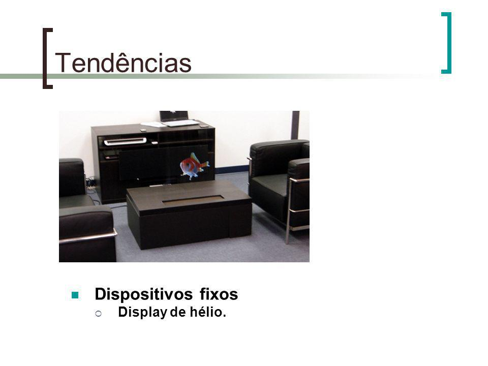 Tendências Dispositivos fixos Display de hélio.