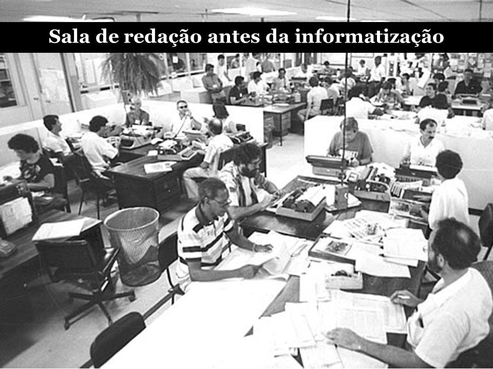 Sala de redação antes da informatização