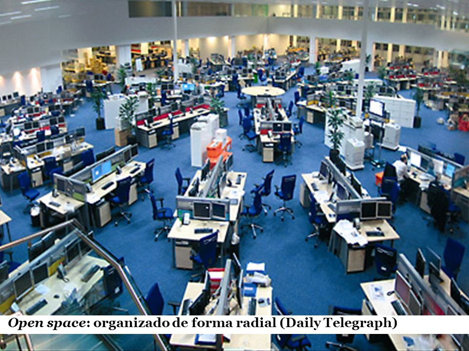 Open space: organizado de forma radial (Daily Telegraph)