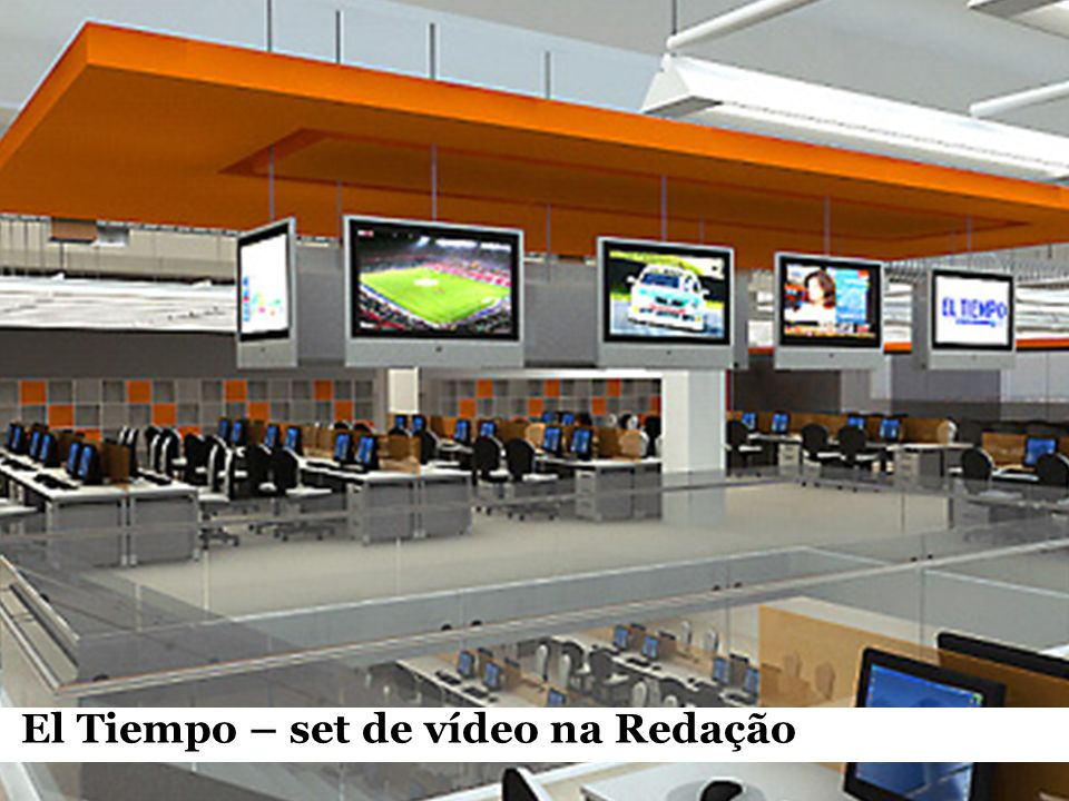 El Tiempo – set de vídeo na Redação