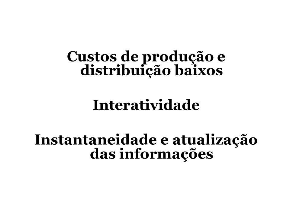 Custos de produção e distribuição baixos