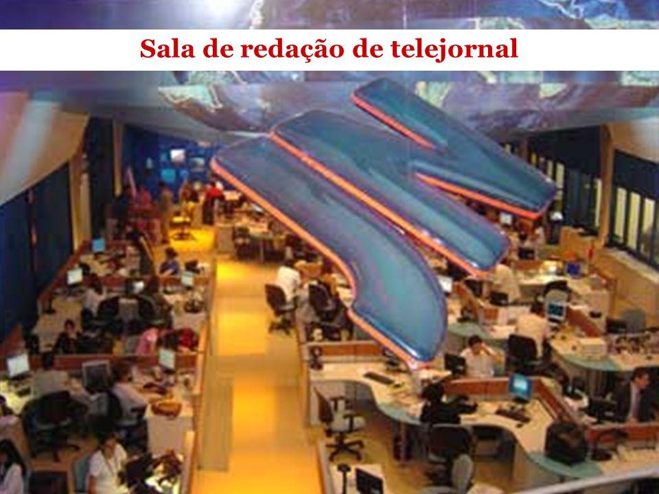 Sala de redação de telejornal