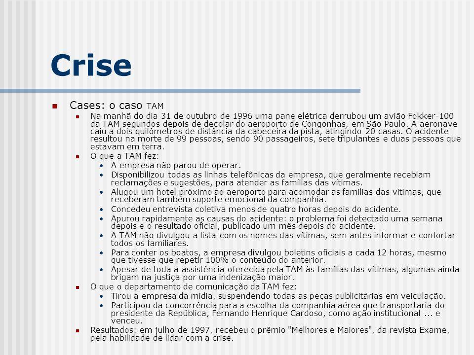 Crise Cases: o caso TAM.