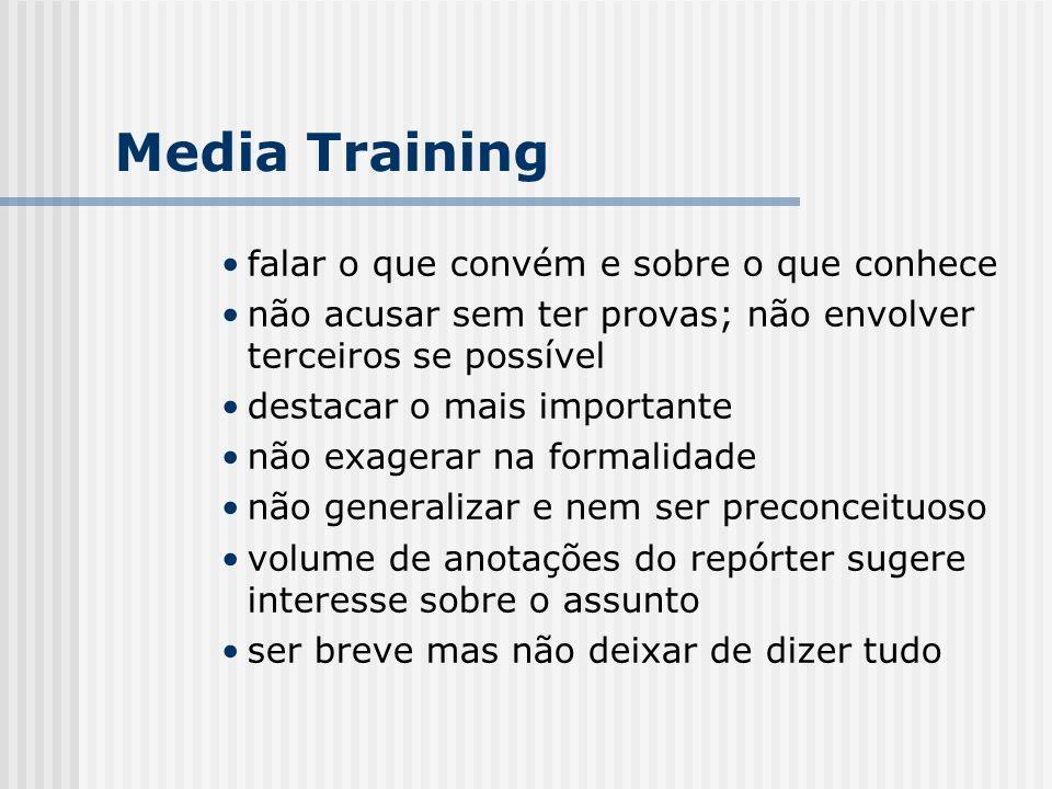 Media Training falar o que convém e sobre o que conhece