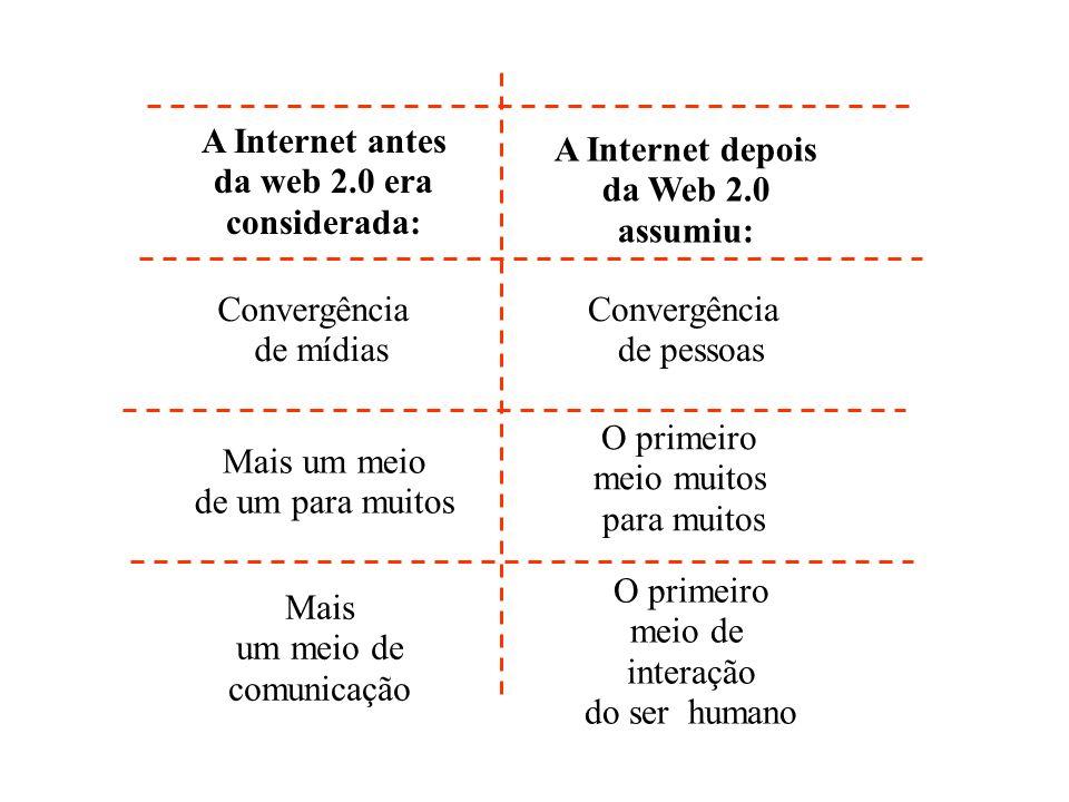 A Internet antes da web 2.0 era considerada: