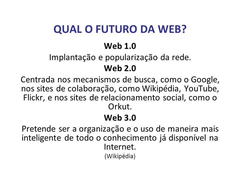 Implantação e popularização da rede.