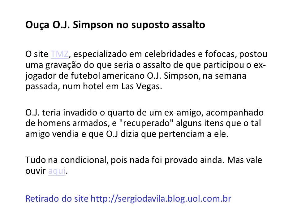 Ouça O.J. Simpson no suposto assalto