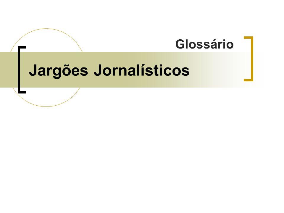 Jargões Jornalísticos