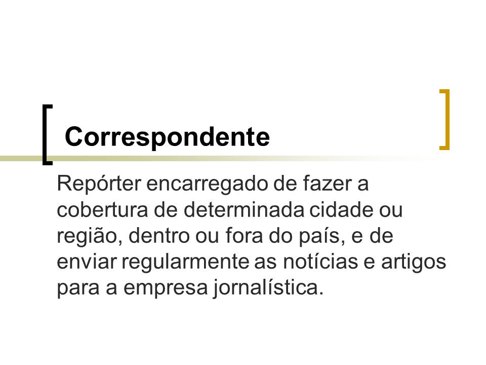 Correspondente