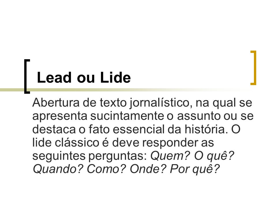Lead ou Lide