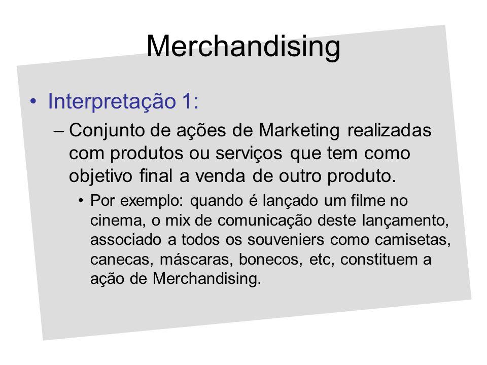 Merchandising Interpretação 1: