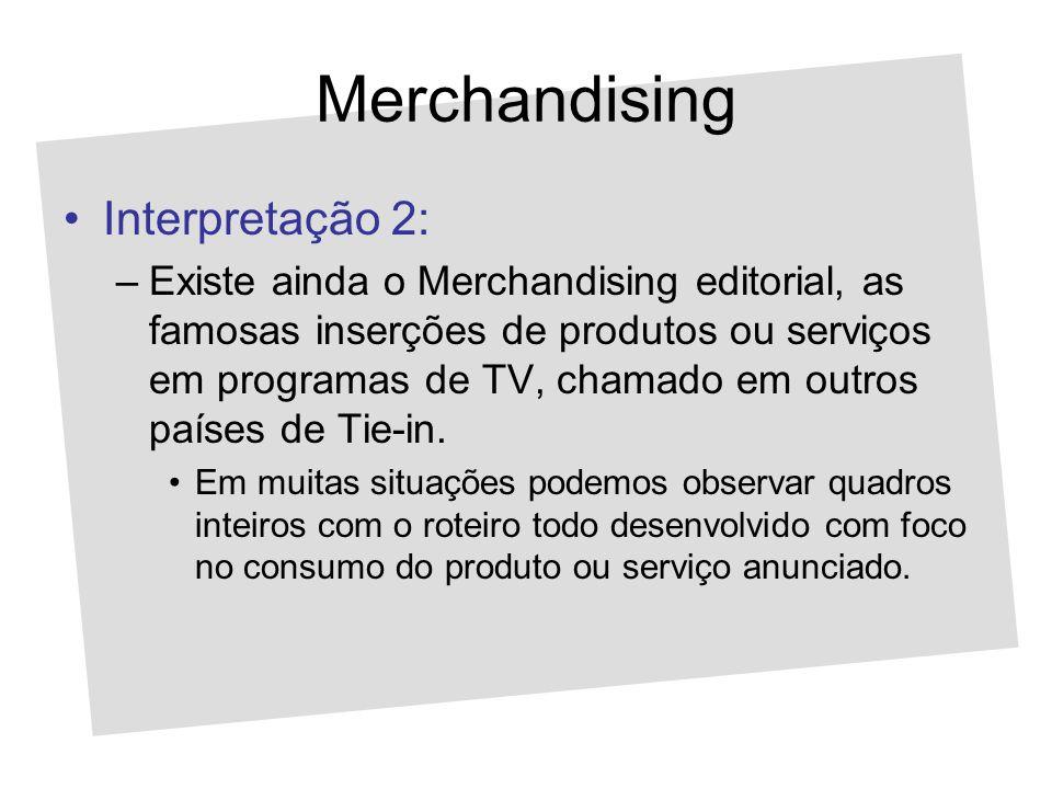 Merchandising Interpretação 2: