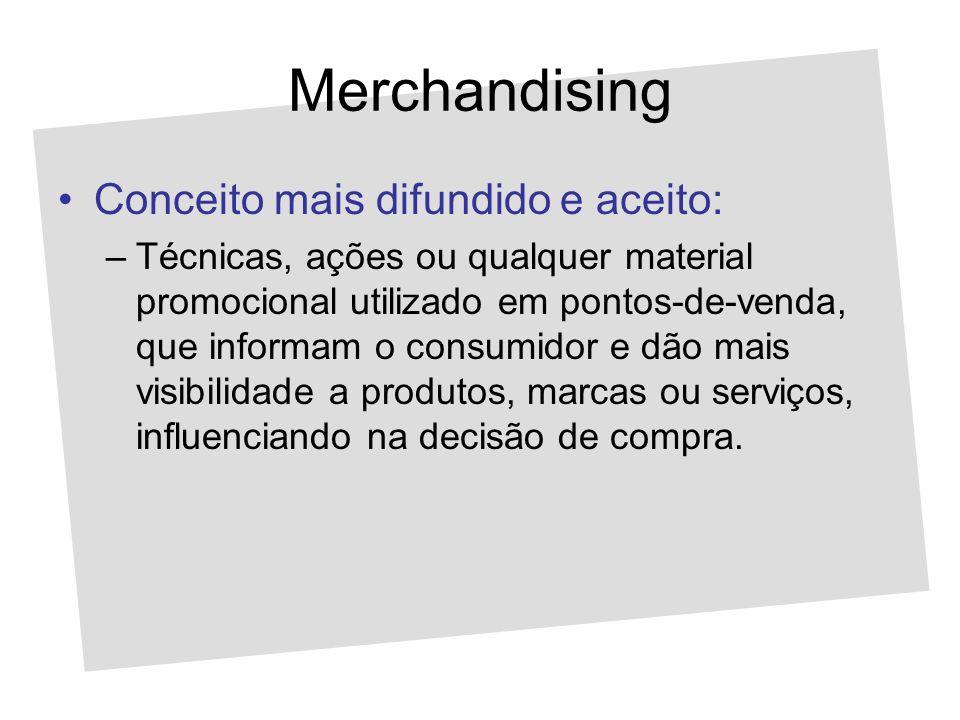 Merchandising Conceito mais difundido e aceito: