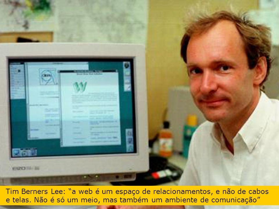 Tim Berners Lee: a web é um espaço de relacionamentos, e não de cabos e telas.