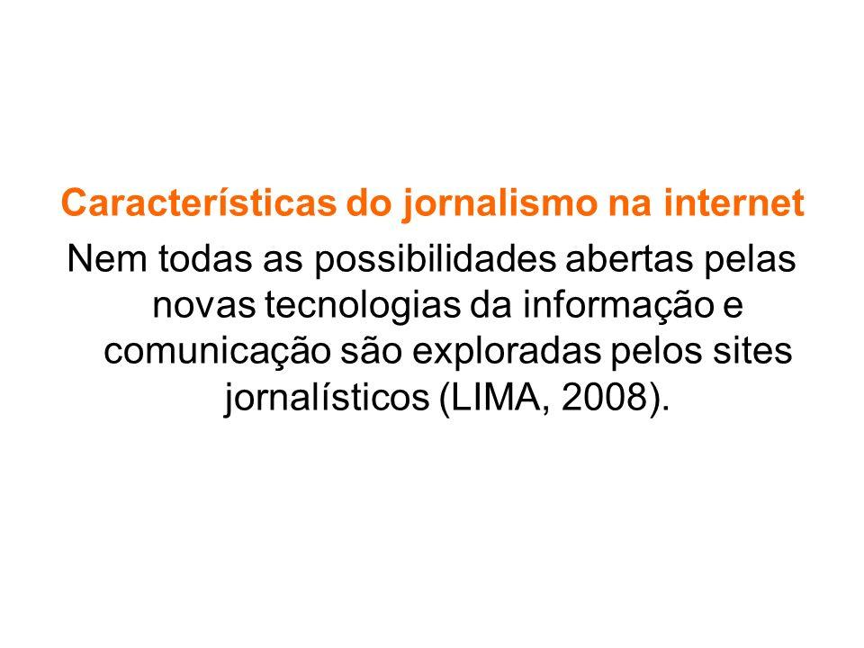 Características do jornalismo na internet