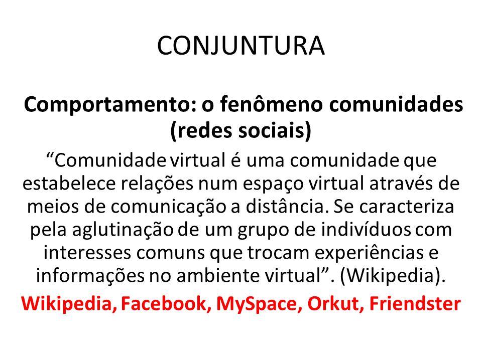 CONJUNTURA Comportamento: o fenômeno comunidades (redes sociais)