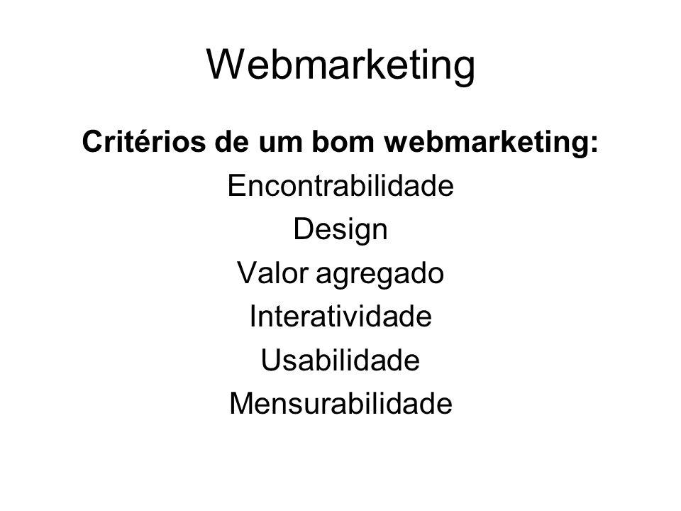 Critérios de um bom webmarketing:
