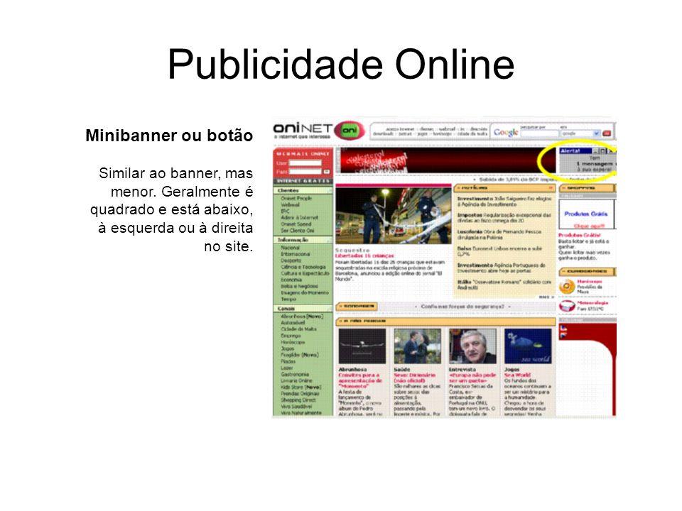 Publicidade Online Minibanner ou botão