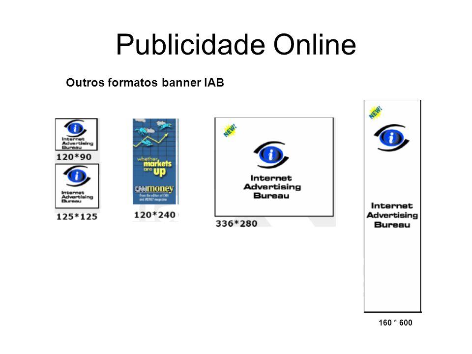 Publicidade Online Outros formatos banner IAB 160 * 600
