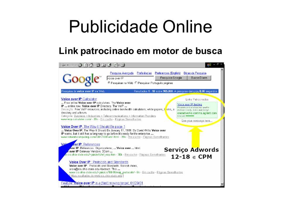 Link patrocinado em motor de busca