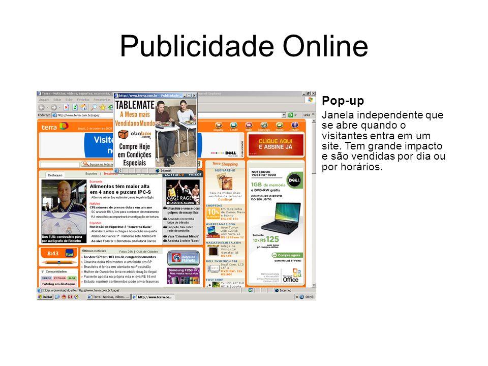 Publicidade Online Pop-up