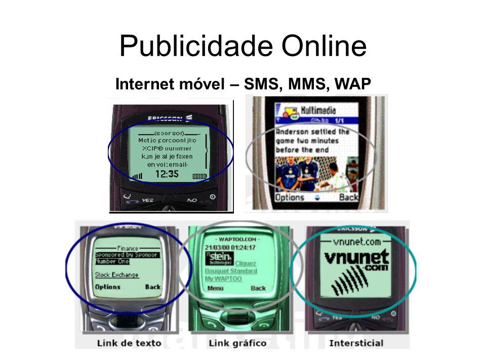 Internet móvel – SMS, MMS, WAP