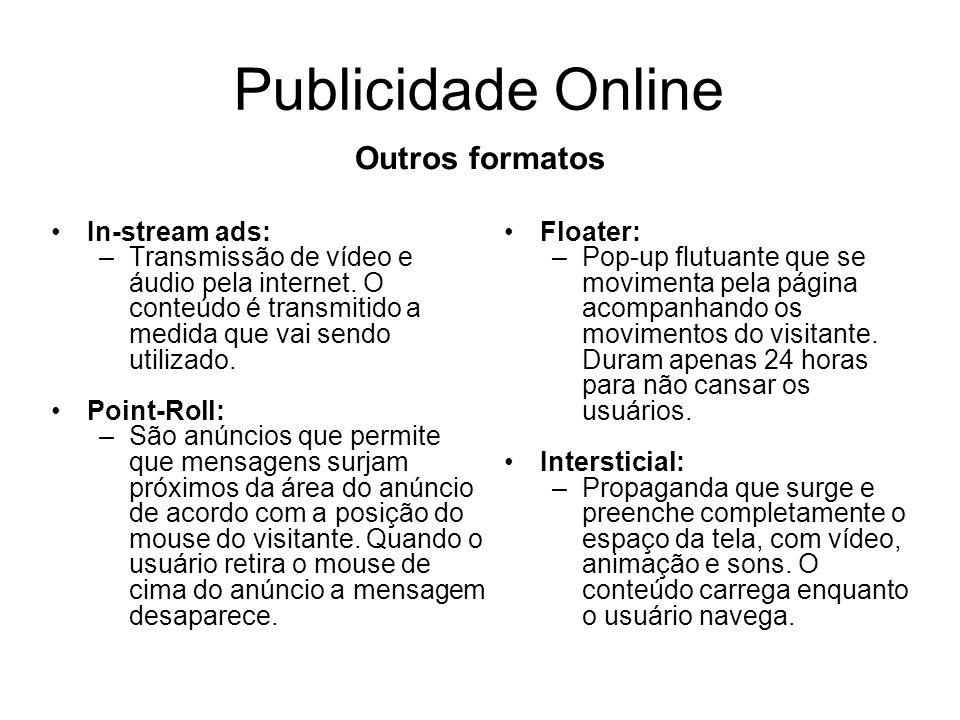 Publicidade Online Outros formatos In-stream ads: