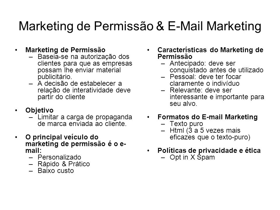 Marketing de Permissão & E-Mail Marketing