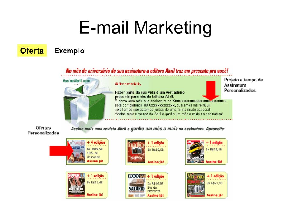 E-mail Marketing Oferta Exemplo