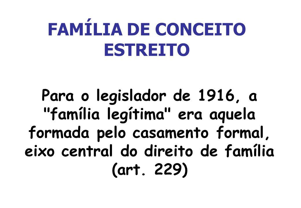 FAMÍLIA DE CONCEITO ESTREITO