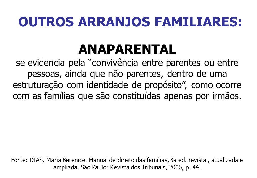 OUTROS ARRANJOS FAMILIARES: