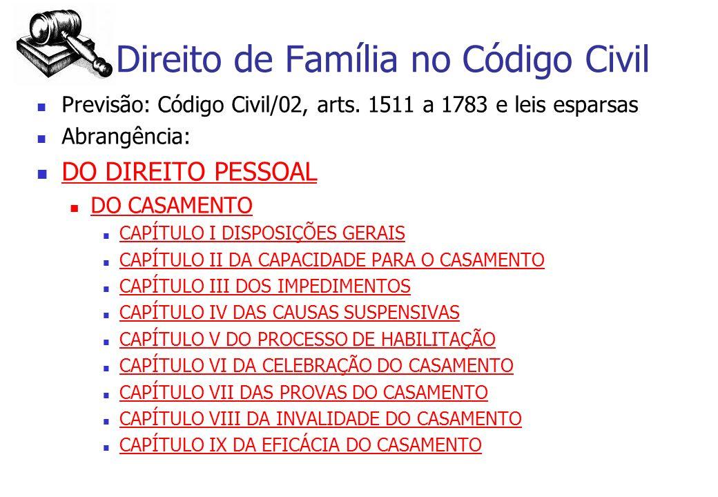 Direito de Família no Código Civil