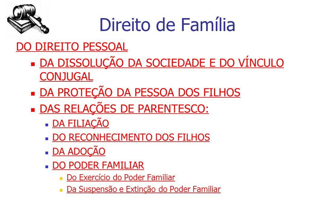 Direito de Família DO DIREITO PESSOAL
