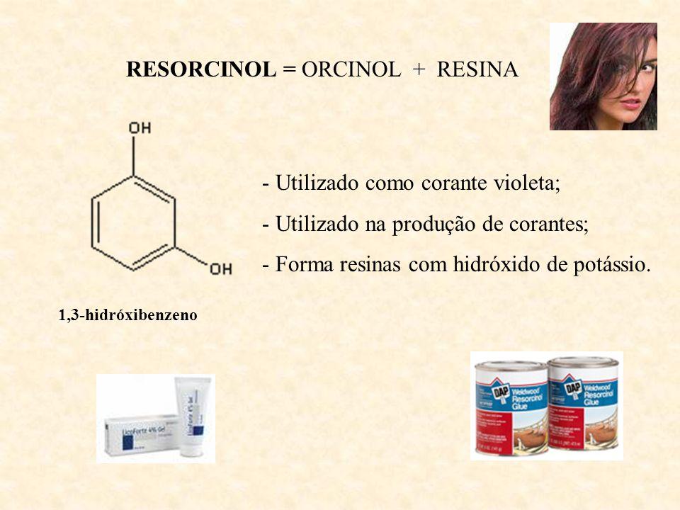 RESORCINOL = ORCINOL + RESINA