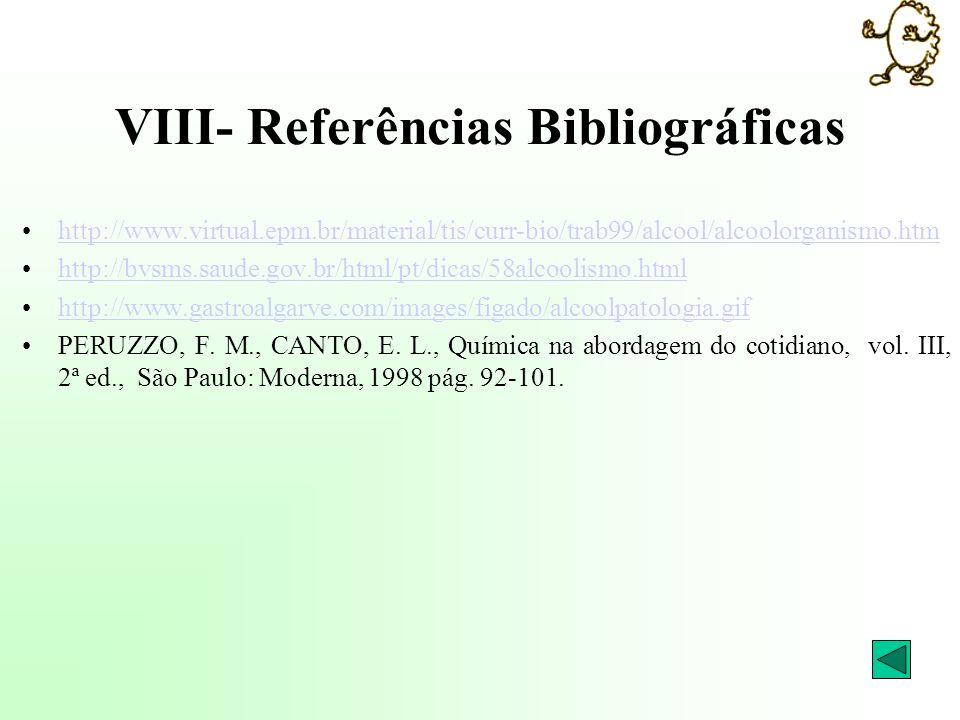 VIII- Referências Bibliográficas