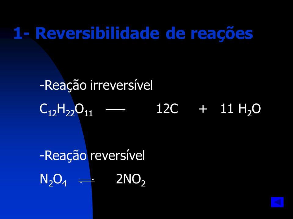 1- Reversibilidade de reações