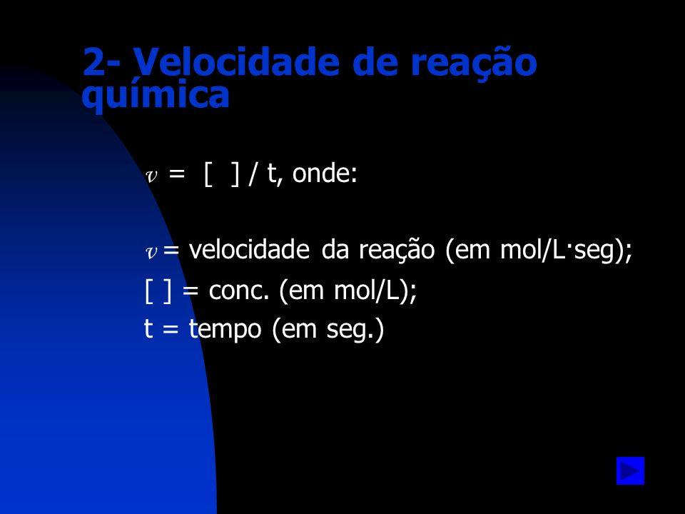 2- Velocidade de reação química
