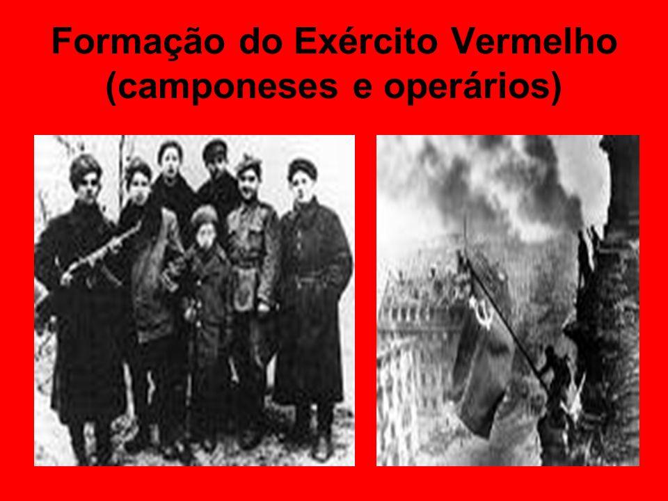Formação do Exército Vermelho (camponeses e operários)