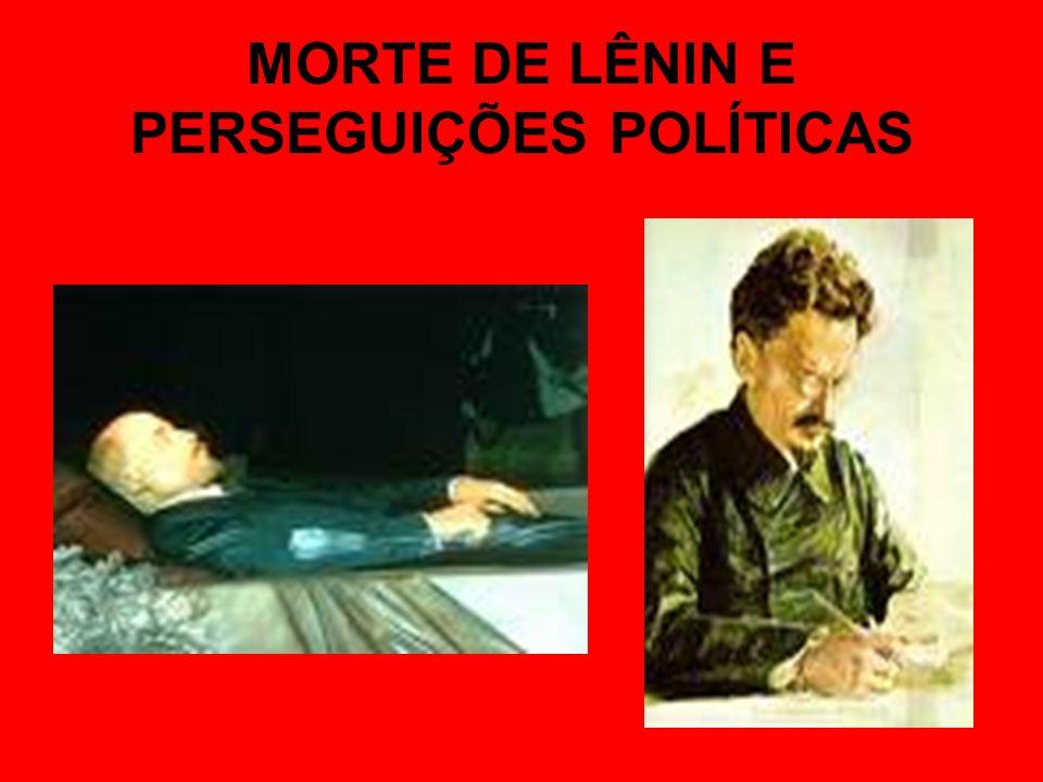 MORTE DE LÊNIN E PERSEGUIÇÕES POLÍTICAS