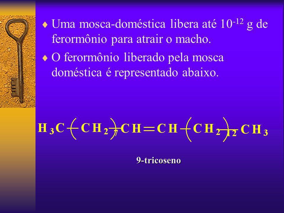 O ferormônio liberado pela mosca doméstica é representado abaixo.