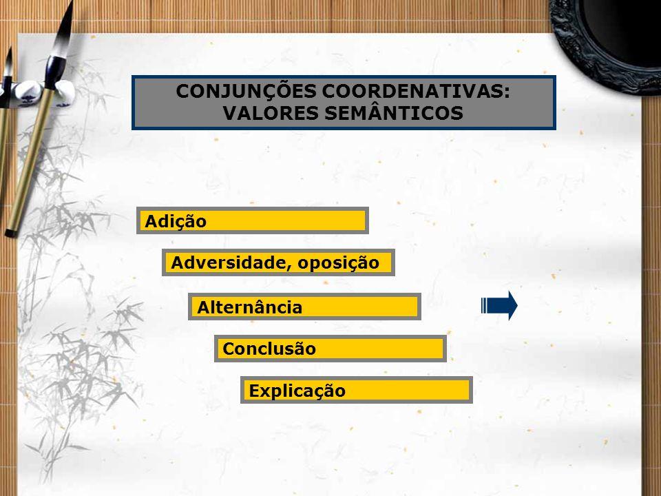 CONJUNÇÕES COORDENATIVAS: