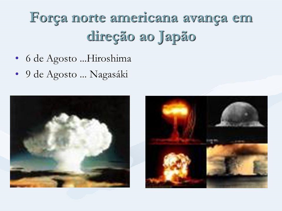 Força norte americana avança em direção ao Japão