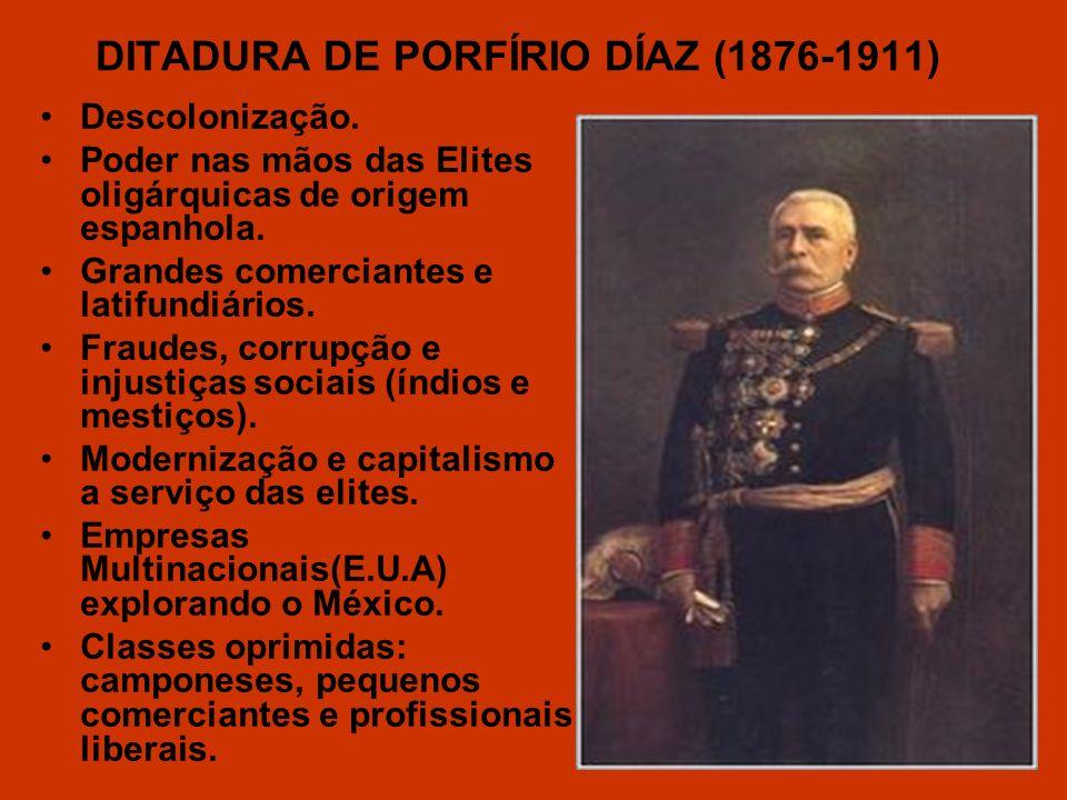 DITADURA DE PORFÍRIO DÍAZ (1876-1911)