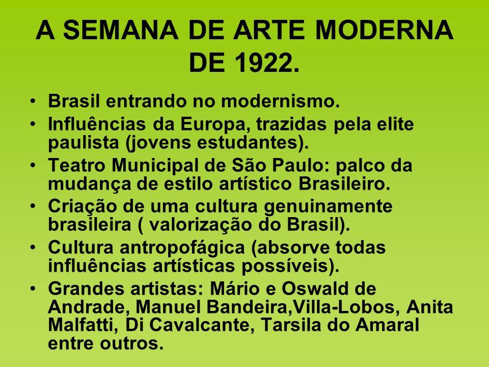A SEMANA DE ARTE MODERNA DE 1922.