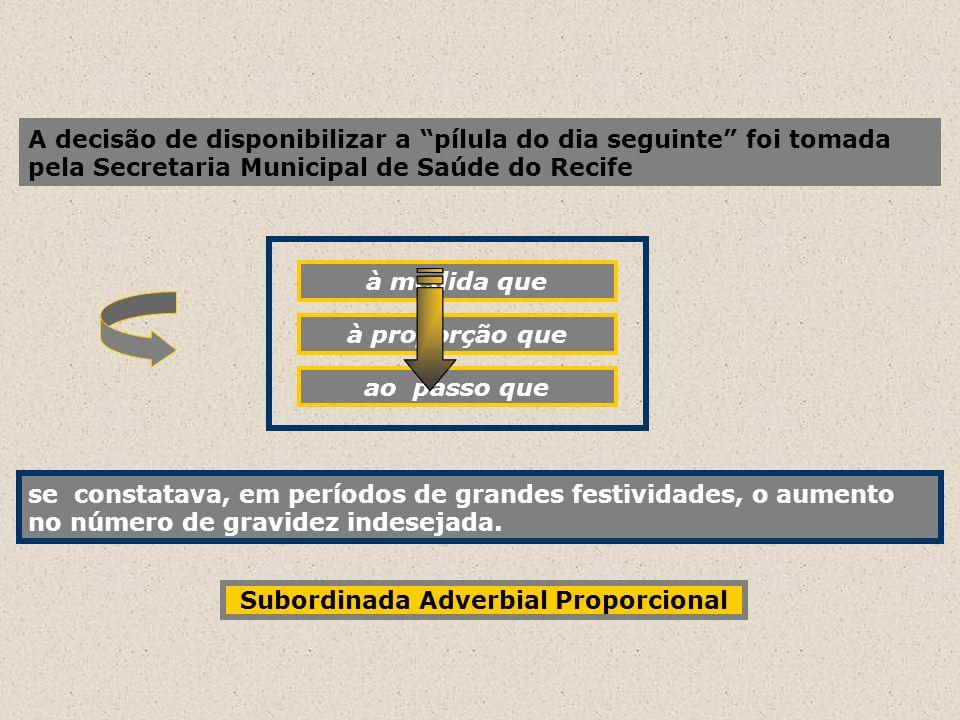 Subordinada Adverbial Proporcional