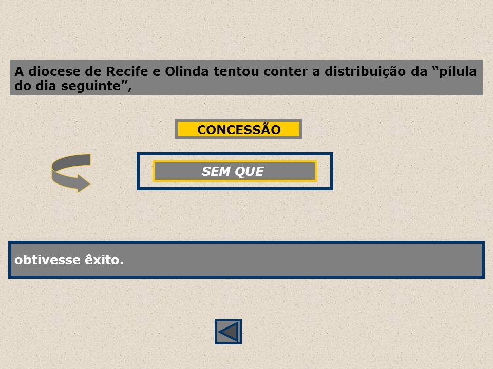 A diocese de Recife e Olinda tentou conter a distribuição da pílula