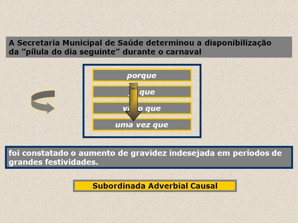 Subordinada Adverbial Causal